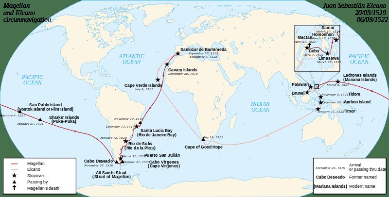Expediția lui Fernando Magellan și a lui Juan Sebastian Elcano
