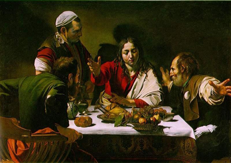 Michelangelo Merisi da Caravaggio - Cina din Emmaus