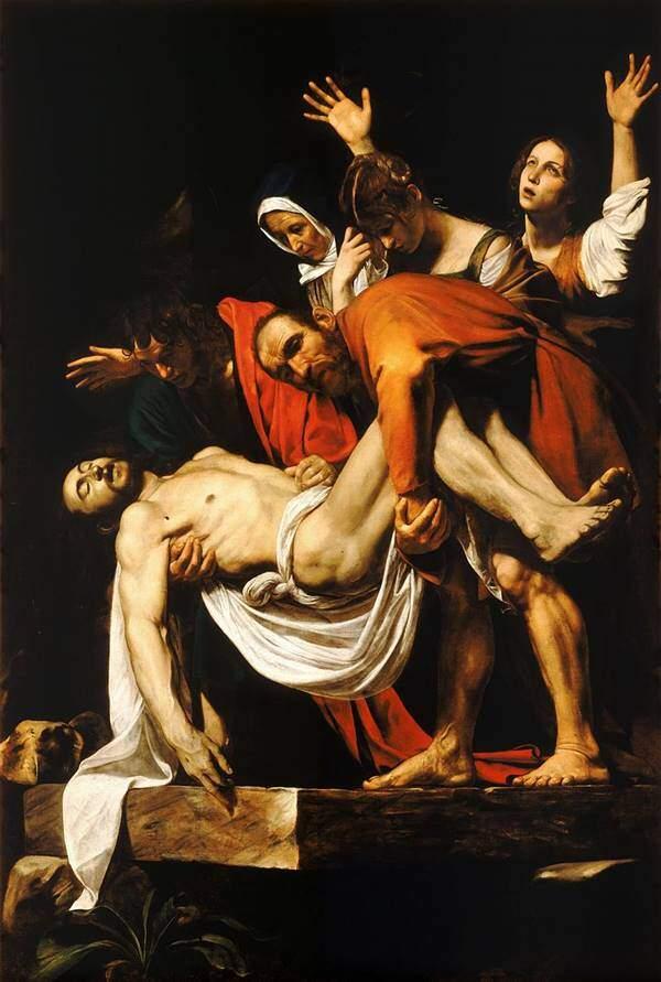 Michelangelo Merisi da Caravaggio - Înmormântarea lui Hristos