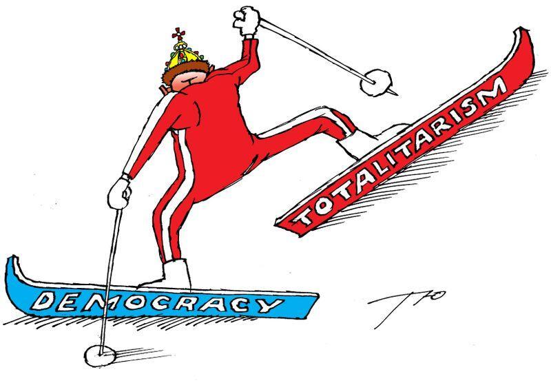 Democrație versus totalitarism