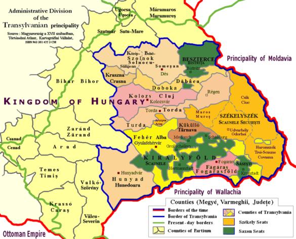 Organizarea administrativ-teritorială a Transilvaniei