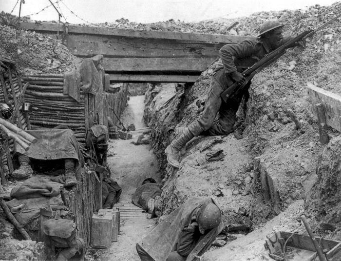 Tranșee în bătălia de pe Somme
